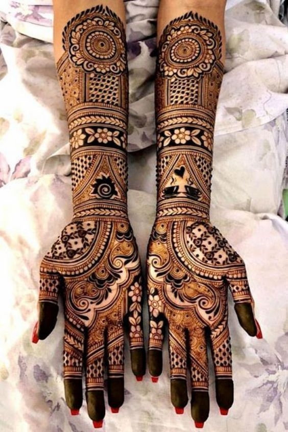full hand mehndi designs for engagement