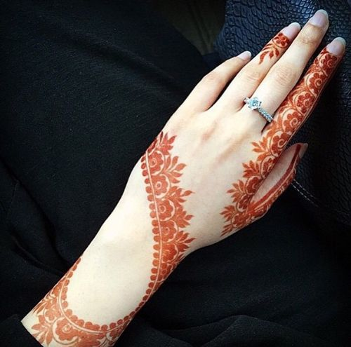 engagement Henna designs simple