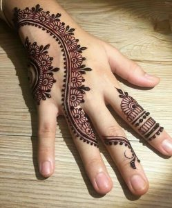 Easy mehndi design bel