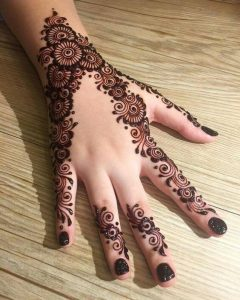 New bel mehndi design