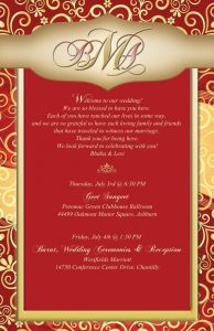 Wedding Cards Matter in English