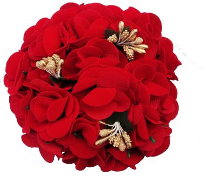 artificial-flower-bun-decoration
